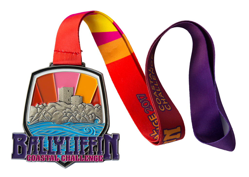 Ballyliffin Medal Enamel Filled full colour lanyard