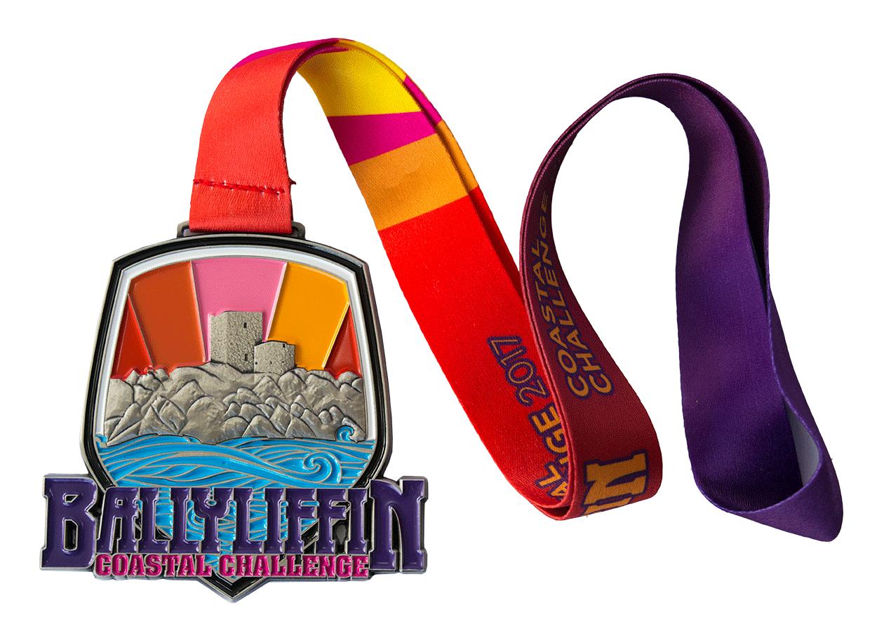 Ballyliffin Medal Enamel Filled full colour lanyard