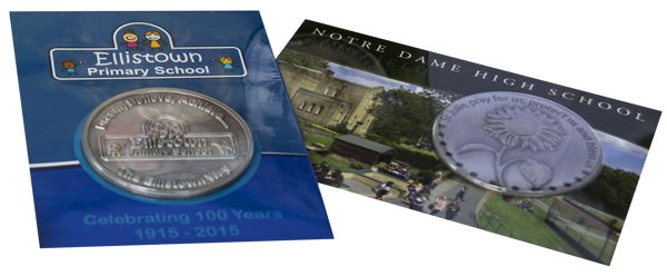 Primary School High School Commemorative Coin Cards