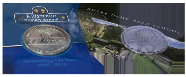 Primary School High School Commemorative Coin Cards