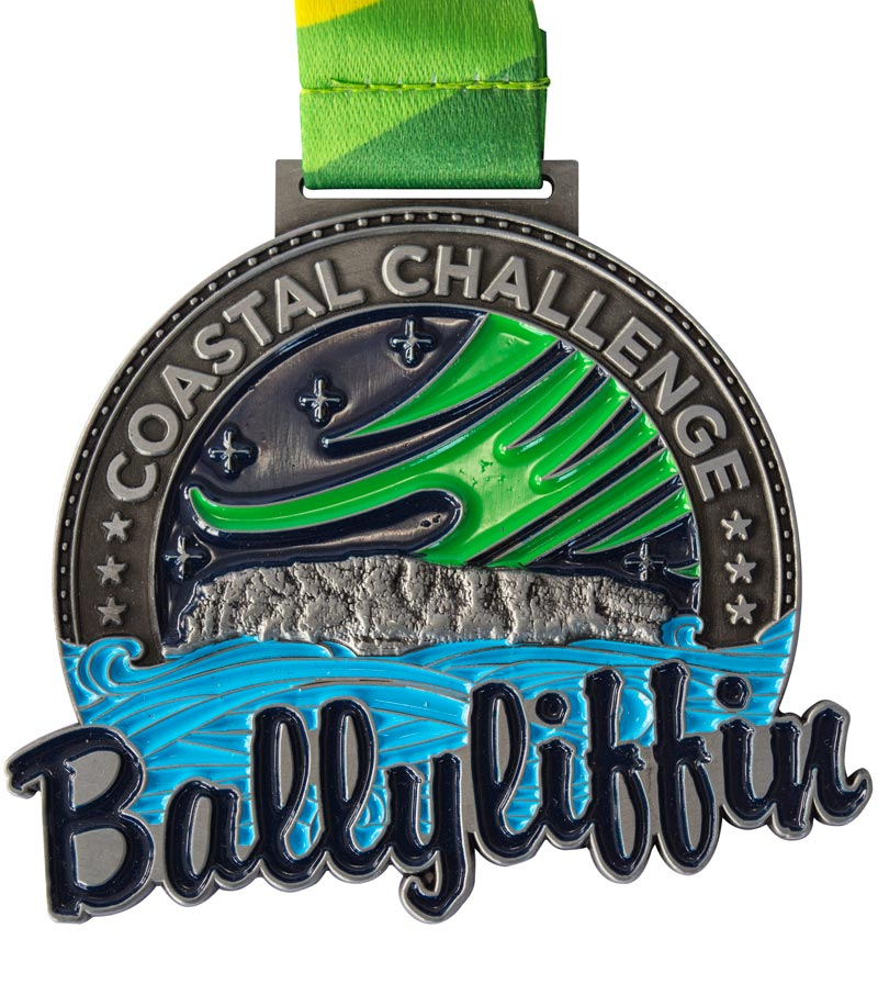 Ballyliffin medal enamel colour