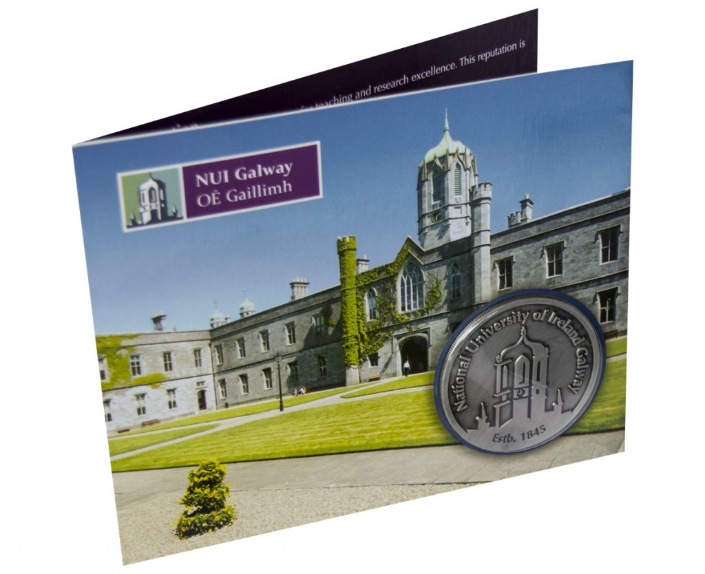 NUI Galway Commemorative Coin Card