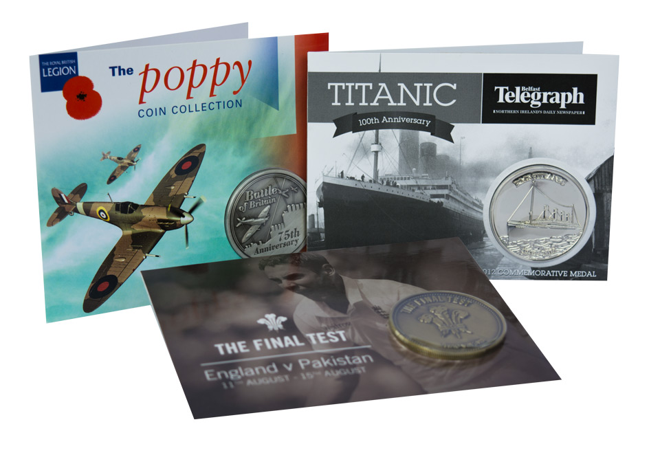 Titanic Poppy Cricket Commemorative Coins