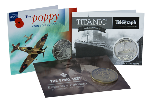 Titanic Commemorative Coin Poppy Commemorative Coin . Cricket Commemorative Coin