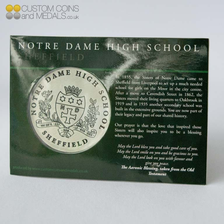 Notre Dame High School Mini Coin Card