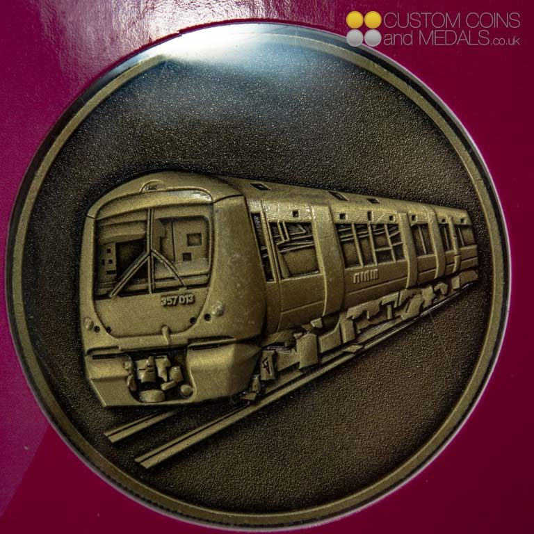 3D Moulding of Train on Antique Brass Coin
