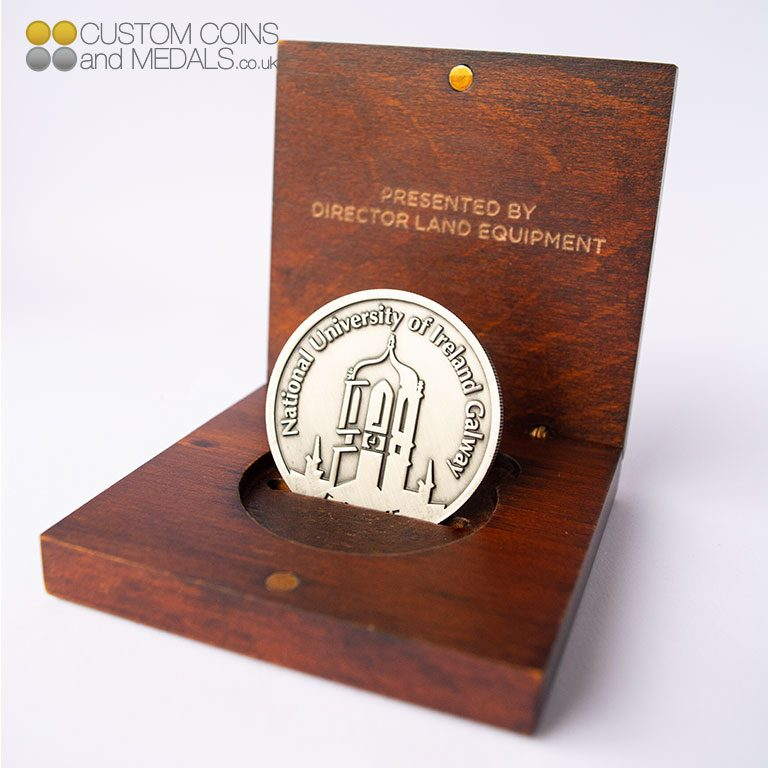NUI Galway in Wooden Coin Box